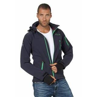 FIFTY FIVE Herren Softshelljacke Alert - Navy/Green M