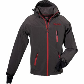 FIFTY FIVE Softshelljacke Herren Alert - Anthrazit/Red L